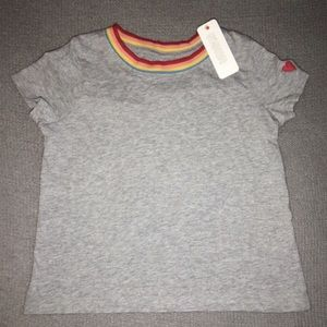 NWT Gymboree Rainbow Grey Tee